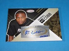 2011 Sage RANDALL COBB #8 Autograph Gold RC/200 Green Bay PACKERS - Kentucky