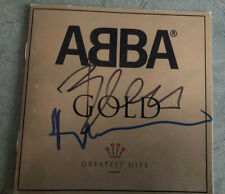 """ABBA Benny & Bjorn Signed """"Gold"""" CD Booklet"""
