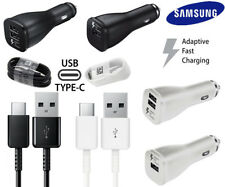 Original OEM Samsung Fast USB Car Charger for Galaxy S8/S8 Plus + Type-C Cable