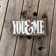 Small You and Me wood sign, Gift for friend who loves to cook. Rustic wall décor