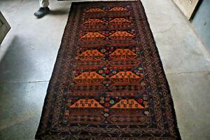 Vintage Tank Top Afghan War Carpet,Beautiful Very Soft Wool on Wool Natural Vege