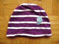 @ BONDI @ Gorro púrpura blanco rayas horizontales 100% Algodón 43cm talla 62/68
