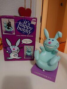 It's Happy Bunny Blue 2 Cute 2 Talk 2 U Phone Key Coin Holder