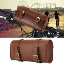PU Leather Soft Bike Handlebar Bag Bicycle Saddle Brown Tool Tail Bag Cycling SA