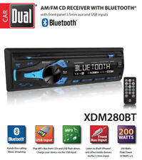 NEW DUAL XDM280BT 1 Din AM/FM CD/MP3 Player Car Receiver USB AUX Input Bluetooth