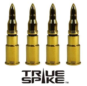 4 TRUE SPIKE GOLD BULLET WHEEL RIM TIRE AIR VALVE STEM COVER CAP FOR HONDA