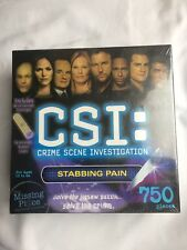 CSI The Missing Piece Mystery Puzzle 750 pc STABBING PAIN ultraviolet flashlight