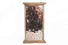 Wooden Copper Rose Gold Glass Mirror Mosaic Key Cupboard Cabinet Storage Box