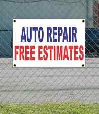 2x3 AUTO REPAIR FREE ESTIMATES Red White & Blue Banner Sign Discount Size Price