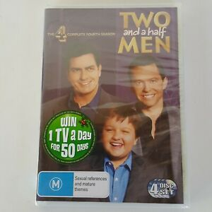 TWO and a half MEN The 4 Complete Fourth Season DVD (4 Disc Set) Pal 4 NEW