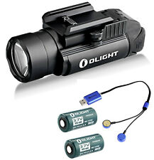 Olight PL-2 Valkyrie 1200 Lm Pistol Light Rechargeable RCR123 Batteries, Charger