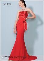 V1533 Vogue Sewing Pattern 1533 Designer Bellville Sassoon Formal Gown Dress NEW