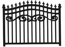 "Black Garden Gate die cut - Plantation Gate - Wrought Iron Gate 4"" tall - 1 pc."