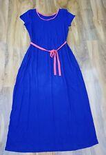 Boden Ladies GORGEOUS Alyssa Maxi Jersey Dress in Blue UK 22L. WH753 Excellent