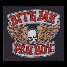 Patch Bite Me Fanboy Lobo Die Antwoord Comic Book Geek Big Bang Skull NFP038