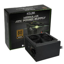 Kolink 80 PLUS BRONZE kl-500m 500w 30a PCI-E Modulare ATX PSU Alimentatore