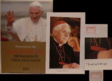 Kardinal Ratzinger Pope Benedikt signed signiert autograph Signatur Autogramm
