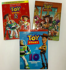 Toy Story Trilogy DVD Collection Set 1, 2, 3 Movies W/Slipcover, Special Edition