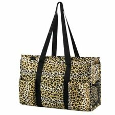 Women Lightweight Utility Tote Carry Travel Bag Leopard Print 20 X 14