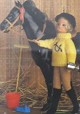 Sindy/Barbie Knitting Pattern VintageTeen/ Doll Jodhpur Jumper Hat & Boots E6754