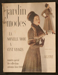 'LE JARDIN DES MODES' FRENCH MAGAZINE WINTER COLLECTIONS ISSUE OCTOBER 1948