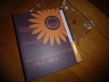 Fotoalbum-Buch  ,braun mit Blume