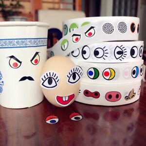 1000* DIY Kids Stickers Cute Cartoon Monster Nose Eyes Handmade Decoration Label