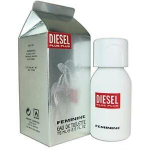 Diesel Plus Plus Feminine Eau De Toilette Perfume Spray for Women, 75ml, NEW