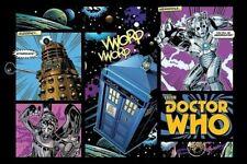 DOCTOR WHO ~ COMICS VWORP 24x36 DR TV POSTER Tardis Dalek Angel BBC Comic Book