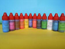 Eopxy ploiester resin color pigments colorants liquid set of 12 colors