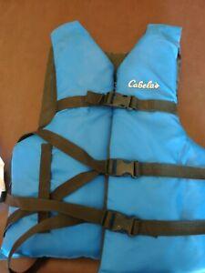 Cabela's Adult Universal Life Jacket Flotation Device Boating Skiing Blue