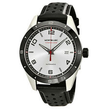 Montblanc TimeWalker Silver Dial Mens Automatic Leather Watch 116058