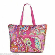 Vera Bradley Pink Swirls Tote in a Pouch Bag Purple Orange New