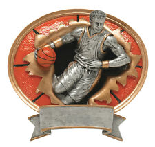 "7"" Male Basketball Sport Blasters Resin Plaque Free Engraving"