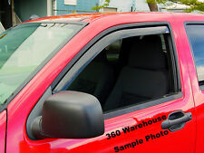 Fits Nissan Titan King Cab 2004 - 2015 In Channel Wind Deflectors Vent Visor