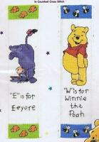 Disney Winnie The Pooh And Eeyore Bookmark Counted Cross Stitch Kit 2 Designs