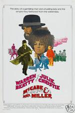 McCabe & Mrs Miller Warren Beatty vintage movie poster