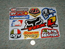 Decals / stickers R/C radio controlled Michelin Spyoptic Fox Mulisha etc  G64