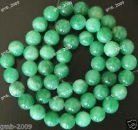 "6mm Natural Green Jadeite Jade Round Gemstone Loose Beads Strand 15"" AAA"