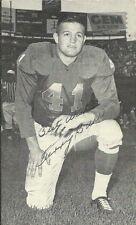 1950s J.D. McCarthy Postcard - TERRY BARR - Detroit Lions Autograph Deceased