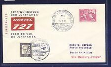 53316) LH FF Hamburg-parís 1.4.65, sou suecia barco post >