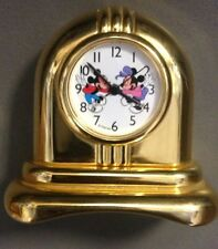 Disney Time Works MICKEY Miniature Mantle Clock Brass Display