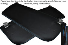 BLUE STITCHING FITS FORD TRANSIT MK6 00-06 2X SUN VISORS LEATHER COVERS ONLY