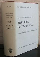 The Code of Maimonides Book Ten: The Book of Cleanness Yale Judaica Ser., Vol 8