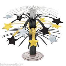 19 cm ELEGANTE HOLLYWOOD BLACK GOLD STAR PARTY mini cascata decorazione centrale