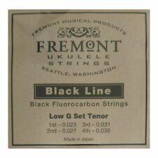 More details for ukulele strings - fremont blackline - fluorocarbon - tenor - low g tuning black