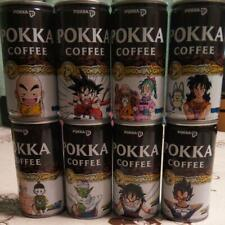 Lot of 8 different Dragon Ball Empty Can Japan limited Pokka Coffe