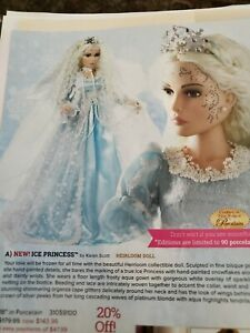 """NRFB~Paradise Galleries Rare ICE PRINCESS 18"""" Porcelain Doll ~ Hand Painted~NEW"""