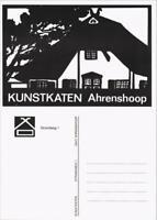 Ansichtskarte Ahrenshoop Kunstkarte Haus Motiv (schwarz-weiss-Kunst) 2000