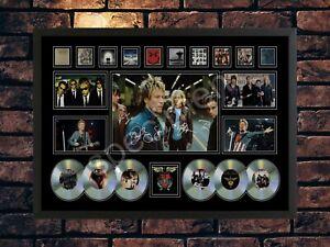 BON JOVI SIGNED PICTURE CD COLLAGE  AUTOGRAPH  A4 PRINT MEMORABILIA